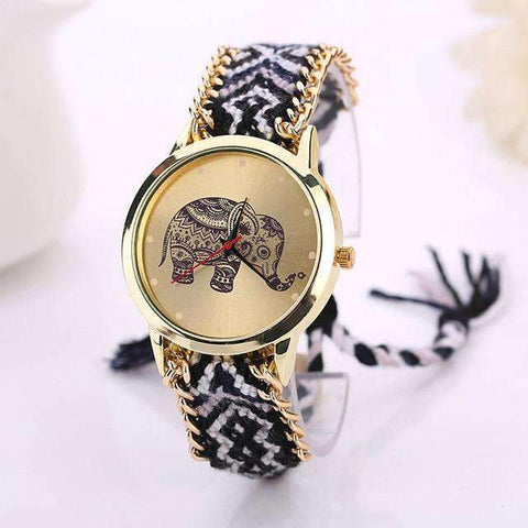 ELEPHANT DREAM ROPE BAND QUARTZ WRISTWATCH-Cosmique Studio
