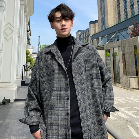 ENGLAND STYLE PLAID MEN JACKET-Cosmique Studio-aesthetic-clothing-store
