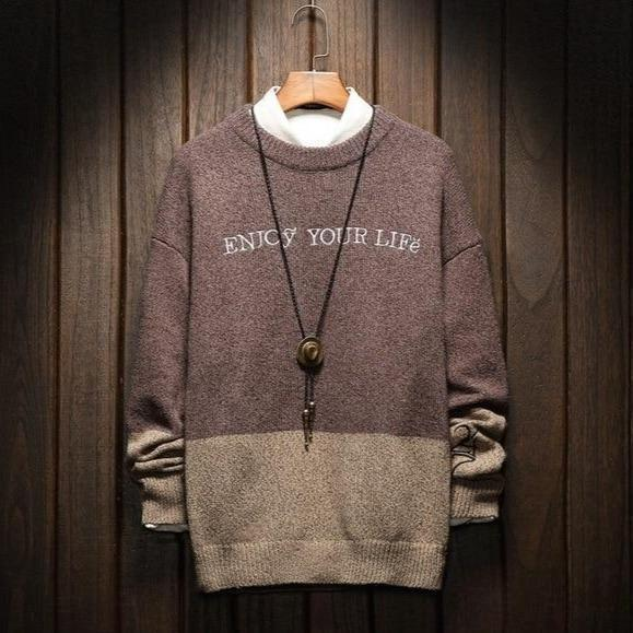 ENJOY YOUR LIFE MEN SWEATER-Cosmique Studio-aesthetic-clothing-store