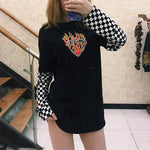 FLAMING HEART LONG SLEEVE TEE-Cosmique Studio