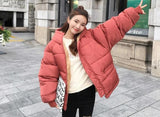 FULL ZIPPER COTTON PADDED COAT JACKET-Cosmique Studio