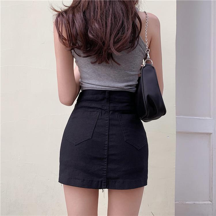 GRUNGE BLACK SKIRT SHORTS - Cosmique Studio - Aesthetic Outfits