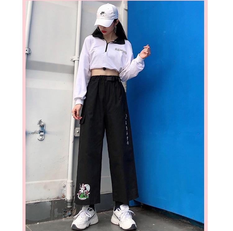 HARAJUKU CARTOON PRINT CARGO PANTS-aesthetic-clothing-cosmiquestudio.com