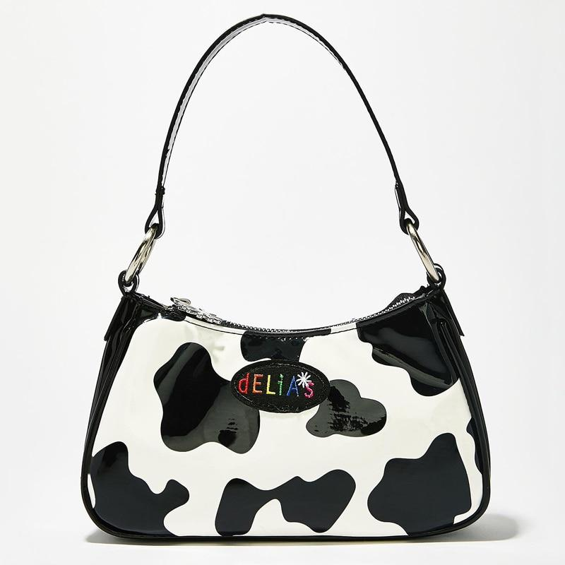 HARAJUKU COW BAGUETTE BAG - Cosmique Studio - Aesthetic Outfits