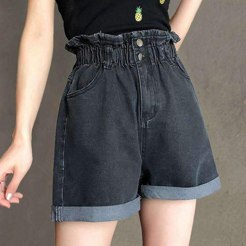 HARAJUKU ELASTIC HIGH WAIST SHORT-Cosmique Studio