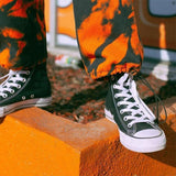 HARAJUKU STYLE ORANGE CARGO PANTS-Cosmique Studio-aesthetic-clothing-store