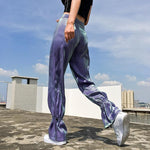 HARAJUKU STYLE SATIN HIGH WAIST PANTS-Cosmique Studio