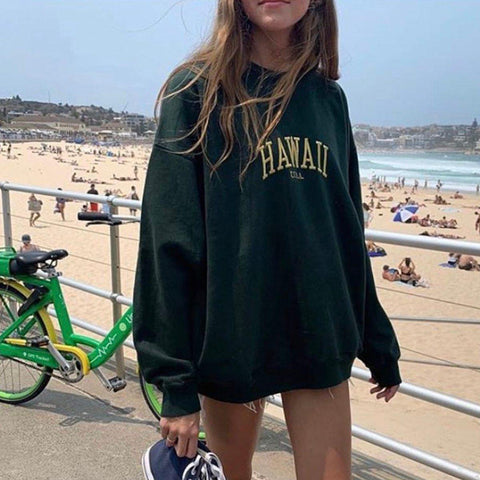 HAWAII USA SWEATSHIRT-Cosmique Studio-aesthetic-clothing-store
