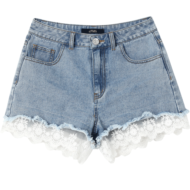 HIGH WAIST SEXY LACE SUMMER SHORT - Cosmique Studio