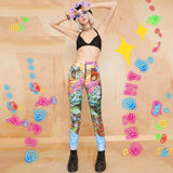 HIP HOP GRAPHIC EGIRL PANTS-Cosmique Studio-Aesthetic Clothing Store