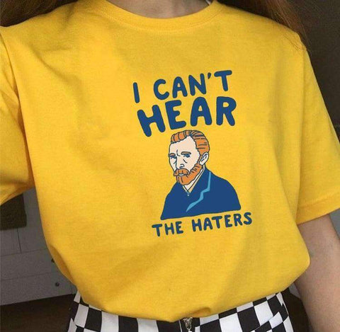 I CAN'T HEAR -THE HATERS TEE-Cosmique Studio