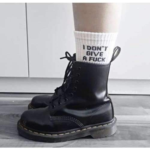 I DON'T GIVE A FUCK SOCKS-Cosmique Studio