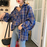 INDIE AESTHETIC CLASSIC PLAID SHIRT-Cosmique Studio-aesthetic-clothing-store