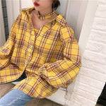 INDIE AESTHETIC CLASSIC PLAID SHIRT-Cosmique Studio-Aesthetic Clothing Store