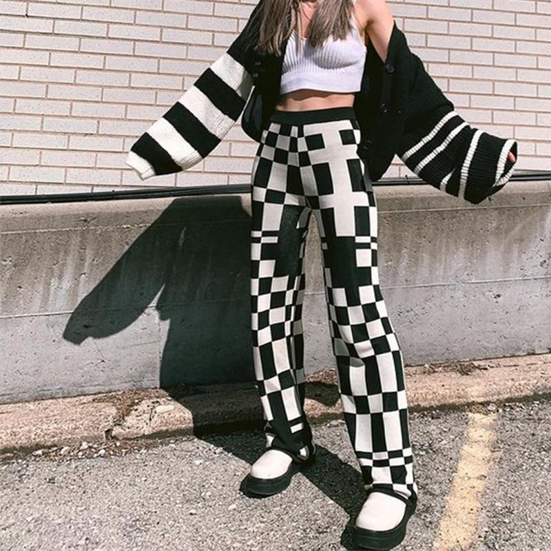 INDIE AESTHETIC HIGH WAIST PANTS - Cosmique Studio - Aesthetic Clothes