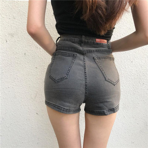 INDIE AESTHETIC SEXY DENIM SHORTS-Cosmique Studio-Aesthetic Clothing Store