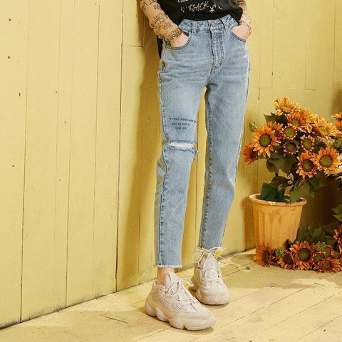 INDIE AESTHETIC STYLE RIPPED PANTS-Cosmique Studio-aesthetic-clothing-store