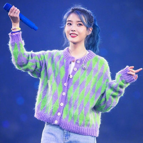 IU BUTTON KNIT SWEATER-Cosmique Studio-Aesthetic Clothing Store