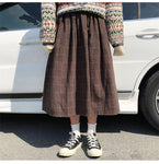 JAPANESE PREPPY STYLE PLAID SKIRT-Cosmique Studio-Aesthetic-Outfits