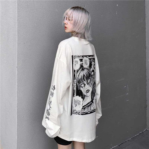 JAPANESE STYLE ANIME CARTOON TEE-aesthetic-clothing-cosmiquestudio.com