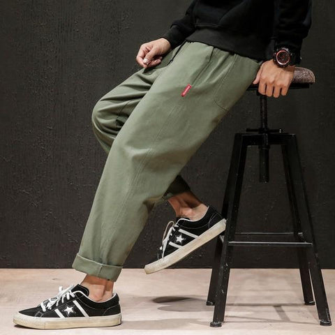 JAPANESE STYLE LINEN MEN PANTS-Cosmique Studio - Aesthetic Clothing