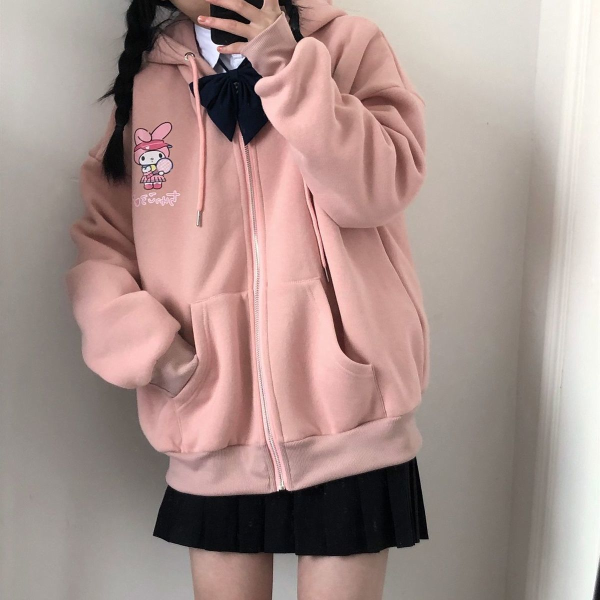 KAWAII ANIME PRINT HOODIE - Cosmique Studio - Aesthetic Outfits