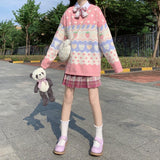 KAWAII CUTE STRAWBERRY SWEATER-Cosmique Studio-Aesthetic-Outfits