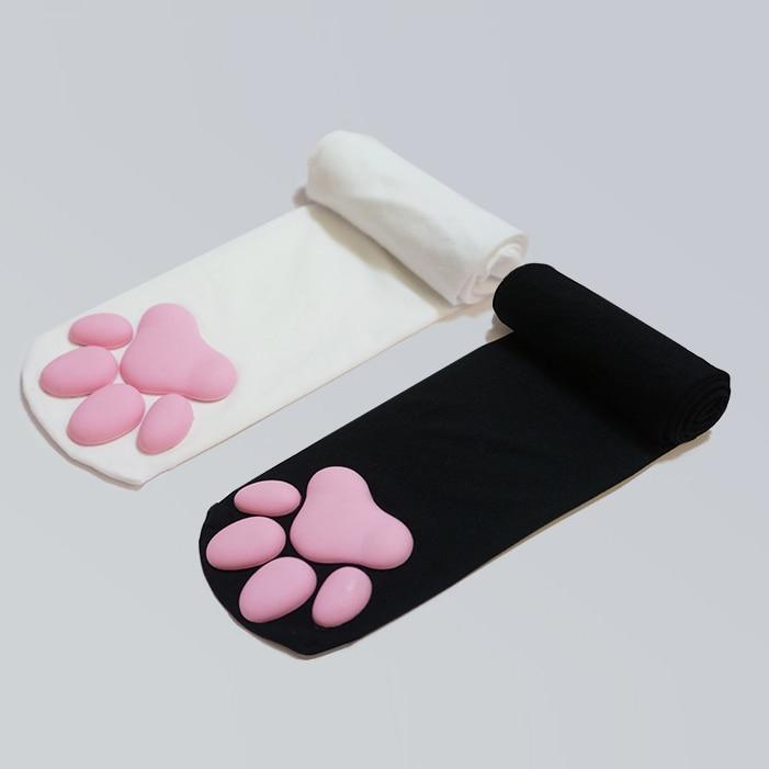 KAWAII OVER KNEE PAWPADS SOCKS - Cosmique Studio - Aesthetic Outfits