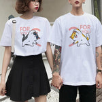 KAWAII STYLE CUTE COUPLE TEE - Cosmique Studio