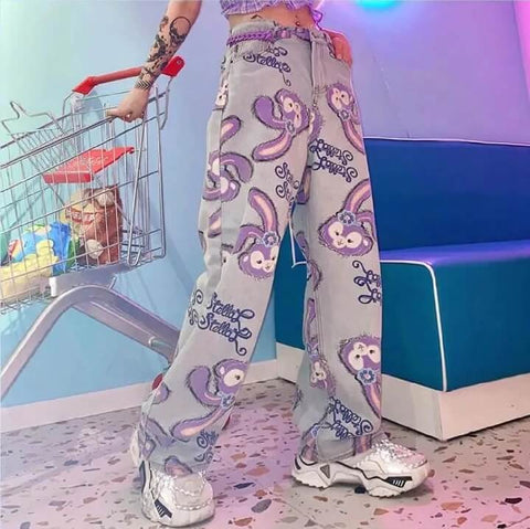 KAWAII XUANYA STYLE TRENDY PANTS-aesthetic-clothing-cosmiquestudio.com