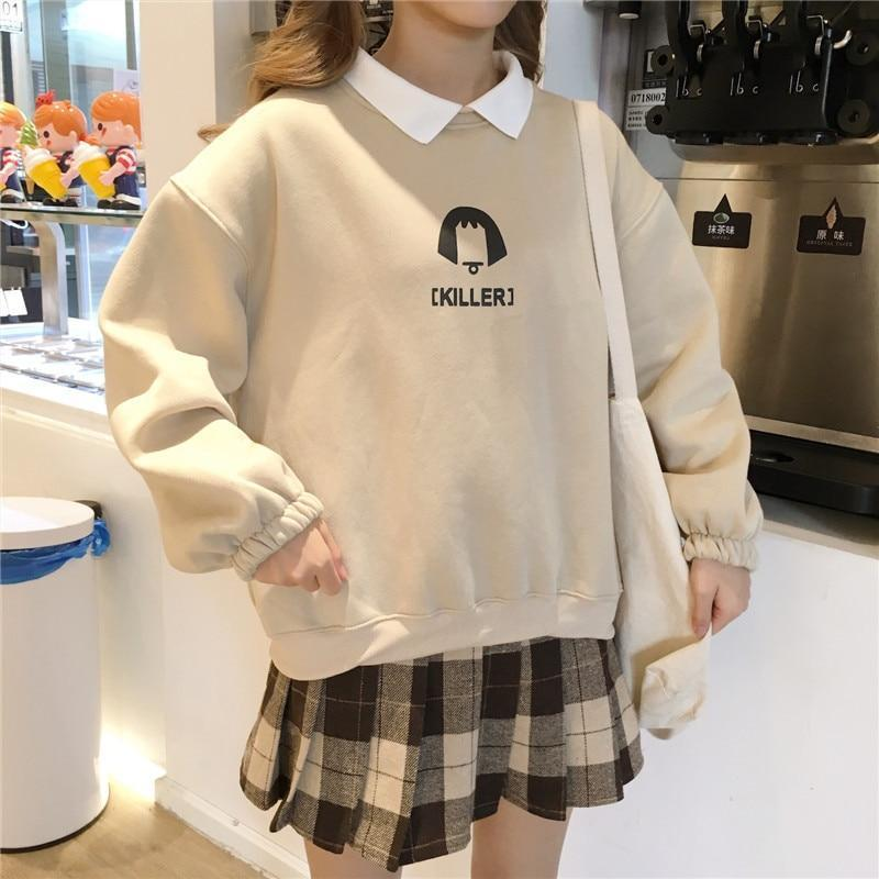 KILLER GIRL SOFT SWEATSHIRT-Cosmique Studio-aesthetic-clothing-store