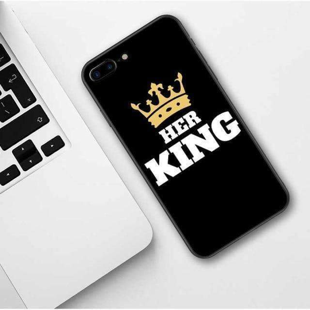KING & QUEEN PHONE CASE-Cosmique Studio