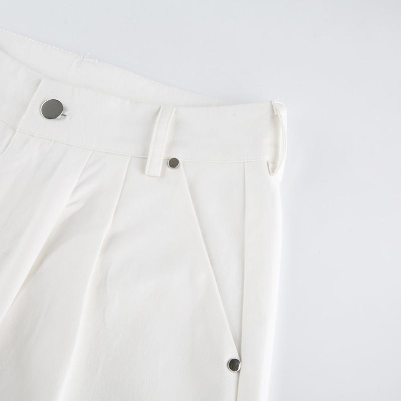 KOREAN FASHION STYLE WHITE STRAIGHT PANTS - Cosmique Studio