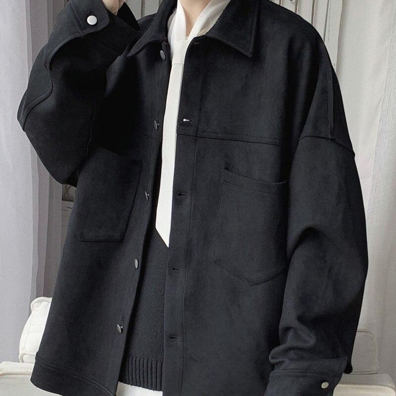 KOREAN LOOSE MEN JACKET - Cosmique Studio - Aesthetic Outfits