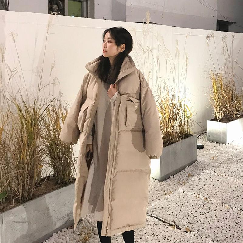 KOREAN OVERSIZE LONG WARM COAT - Cosmique Studio - Aesthetic Outfits