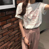 KOREAN STYLE ART FACE TEE-Cosmique Studio
