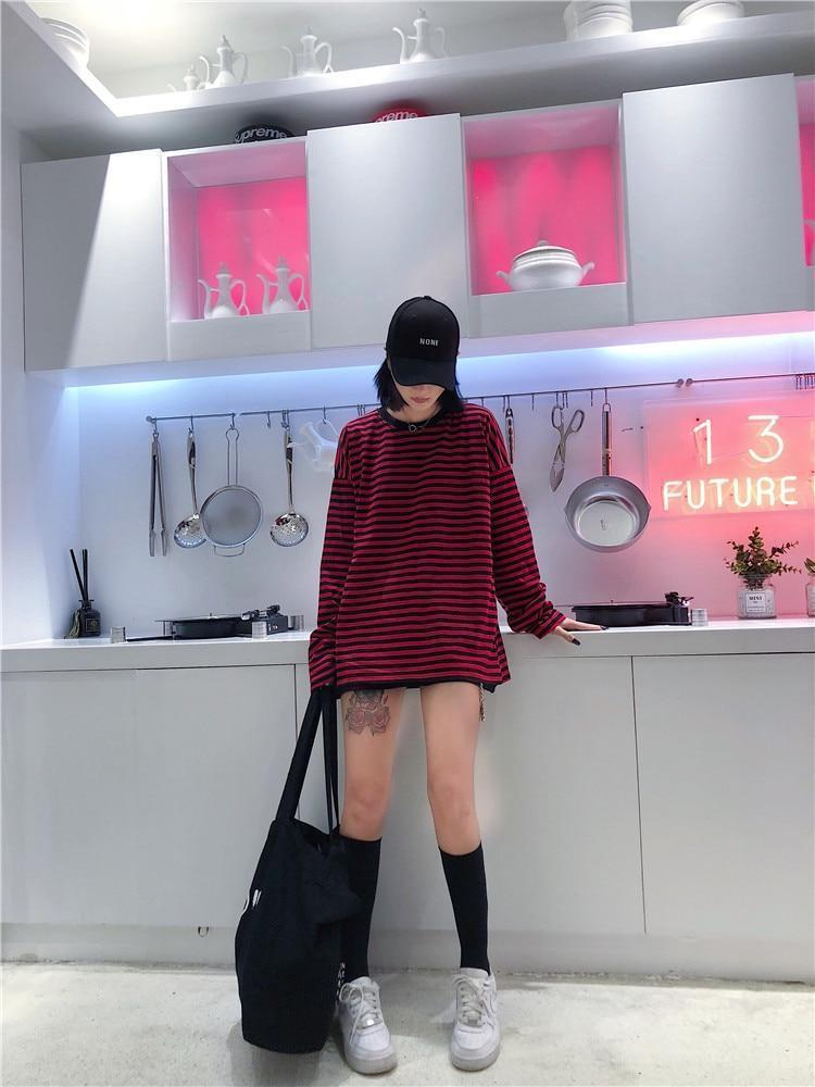 KOREAN STYLE OVERSIZED TEE-Cosmique Studio - Aesthetic Clothing