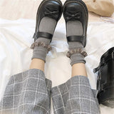 KOREAN STYLE PLAID ANKLE-LENGTH PANTS-Cosmique Studio-Aesthetic Clothing Store