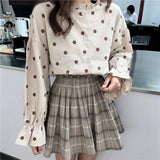 KOREAN STYLE POLKA DOT SHIRT-Cosmique Studio-Aesthetic Clothing Store