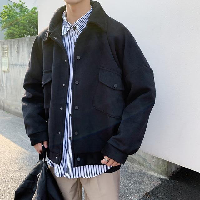 KOREAN STYLE WINTER THICK MEN JACKET-Cosmique Studio-aesthetic-clothing-store