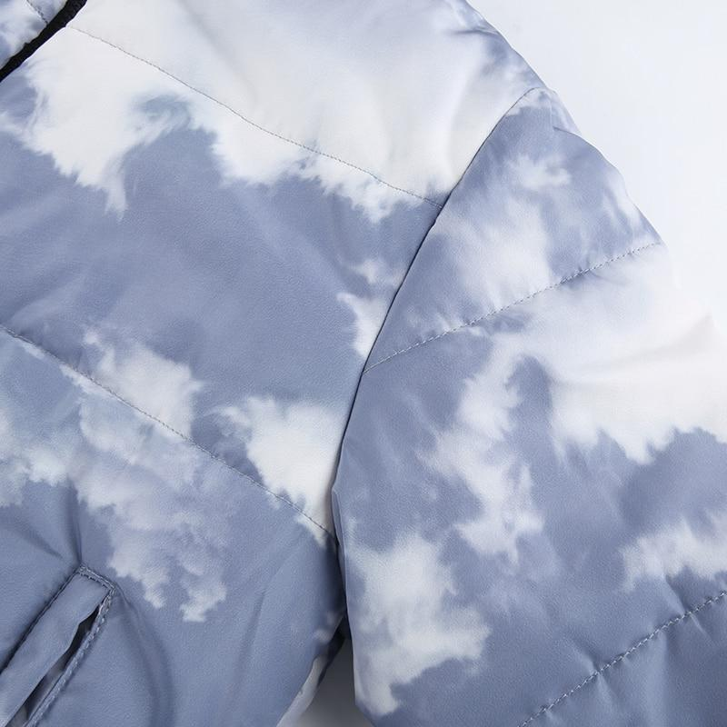KOREAN TIE DYE CROPPED JACKET - Cosmique Studio - Aesthetic Outfits