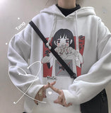 KOREAN ULZZANG HARAJUKU STYLE LONG SLEEVE HOODED SWEATSHIRT-Cosmique Studio