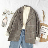 KOREAN VINTAGE OFFICE STYLE BLAZER JACKET-Cosmique Studio-Aesthetic-Outfits