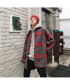 KOREAN VINTAGE PLAID MEN JACKET-aesthetic-clothing-cosmiquestudio.com
