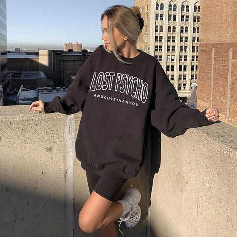 LOST PSYCHO SWEATSHIRT-Cosmique Studio-aesthetic-clothing-store