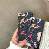 LUXURY JAPANESE LUCKY FISH PHONE CASE FOR IPHONE-Cosmique Studio