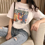 Matisse Tee White Cosmiqustudio.com - Aesthetic Clothing