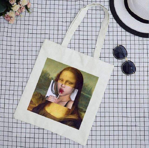 MONA LISA CLOTH BAG-Cosmique Studio
