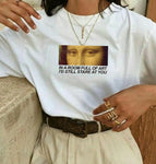 MONA LISA IN A ROOM FULL OF ART I'D STILL STARE AT YOU TEE-Cosmique Studio