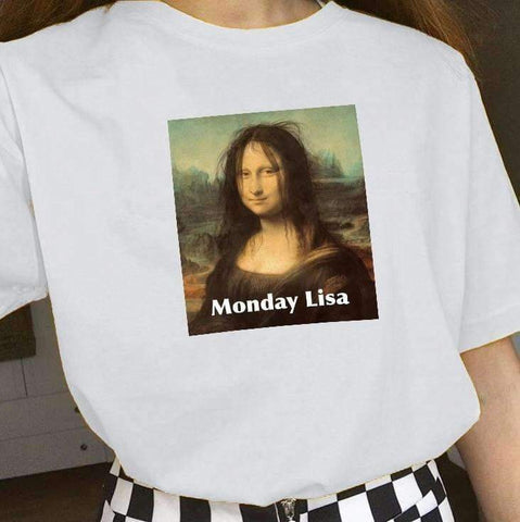 MONDAY LISA TEE-Cosmique Studio